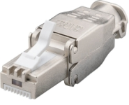 Tool-free CAT6A STP adapter