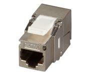 CAT6A Keystone STP, RJ45, 500MHz, Komponenten zertifiziert, Erdung, Premium