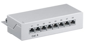 Patch Panel CAT 6, 8 Port