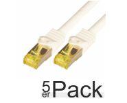 1M CAT7 S-FTP LSZH WHI 5PACK - Netzwerkkabel - raw cable
