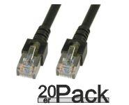 CAT5e-SF/UTP-PVC-0.50M-black-20PACK