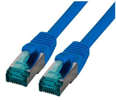 CAT6A Netzwerkkabel S-FTP,PIMF, halogenfrei, 10GB, blau, 10.0m