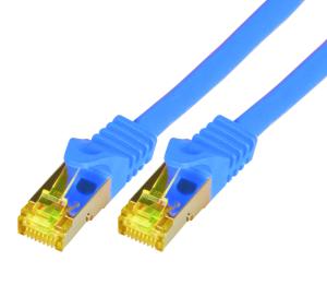 CAT7 Roh-Netzwerkkabel S-FTP, PIMF, LSZH, RJ45, 10GBit, 0.50m, blau