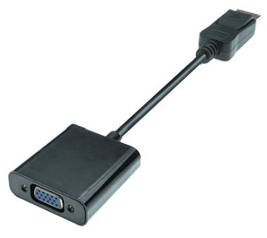 DisplayPort 1.2 zu VGA Adapter, 1080p Full HD, St/Bu, 0.2m, schwarz