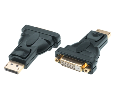 DisplayPort 1.2 zu DVI 24+1 Adapter, 1080p Full HD, St/Bu, schwarz, passiv