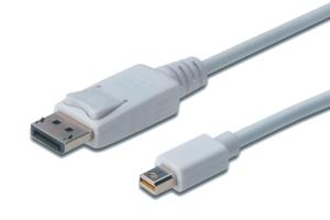 DisplayPort mini - DP Anschlusskabel, St/St, 1m, weiß