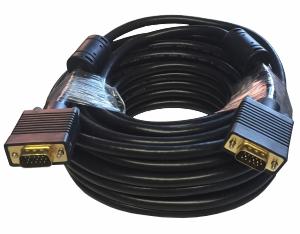 VGA Monitor Anschlusskabel, HD15, Stecker, Ferrite, 15.0m