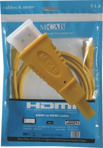 HDMI Hi-Speed Kabel with Ethernet - 2.0m - GELB