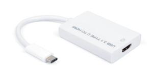 USB-C 3.1 zu HDMI Hi-Speed Adapter, 4K@30Hz, St/Bu, 0.15m, weiss
