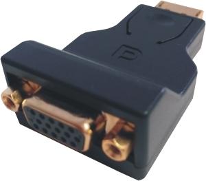 DisplayPort - VGA 15p Converter, DP Stecker / VGA Buchse
