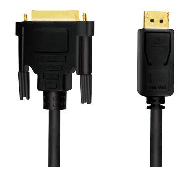 DisplayPort 1.2 zu DVI 24+1 Kabel, 1080P@60Hz, St/St, 5m, Gold
