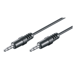 3.5mm HQ Verbindungskabel - St/St - 1.5m, schwarz