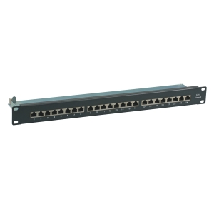 Patchpanel 19i-24P-CAT6-1HE-Black
