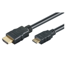 HDMI Hi-Speed Kabel w/E - A/miniC - 4K/60Hz - 1.5m - schwarz