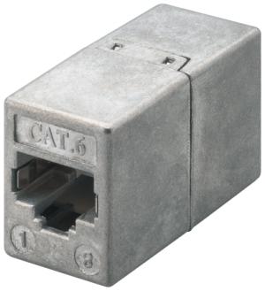 CAT6 Modular Kupplung, RJ45, 1:1, geschirmt, Buchse/Buchse