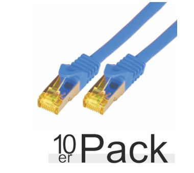 0.25M CAT7 S-FTP LSZH BLU 10PAC - Netzwerkkabel - raw cable