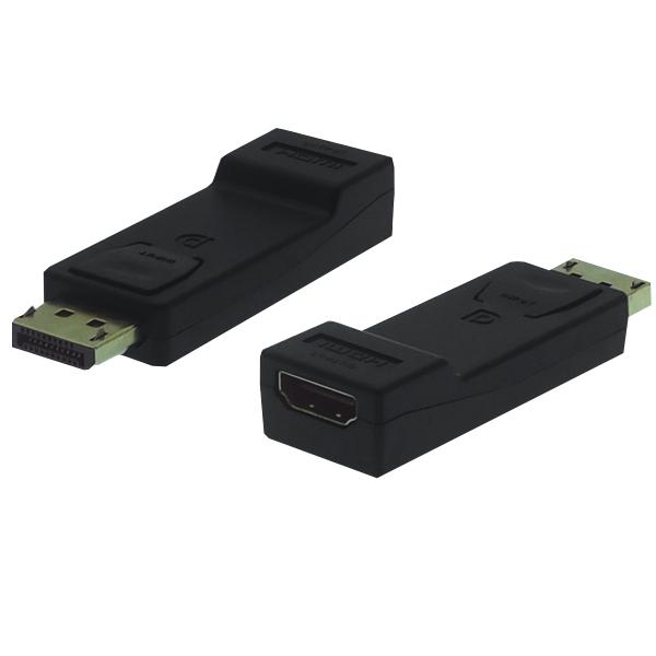 DP - HDMI Adapter, St/Bu, 1920x1080p Full HD, schwarz