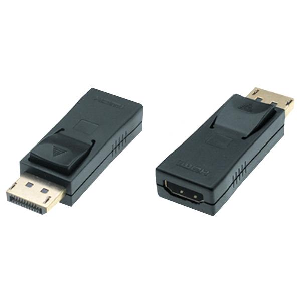 DisplayPort 1.2 zu HDMI High Speed Adapter, 4K@30Hz, St/Bu, schwarz