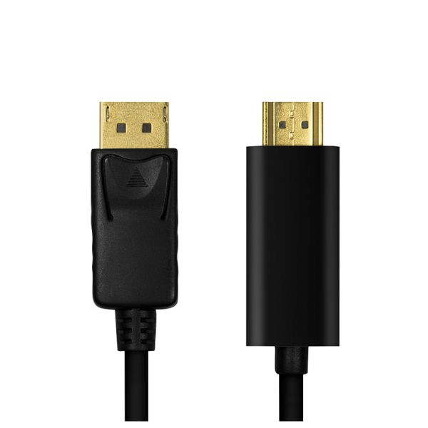 DisplayPort 1.2 zu HDMI High Speed Kabel, 4K@30Hz, St/St, 2m, schwarz