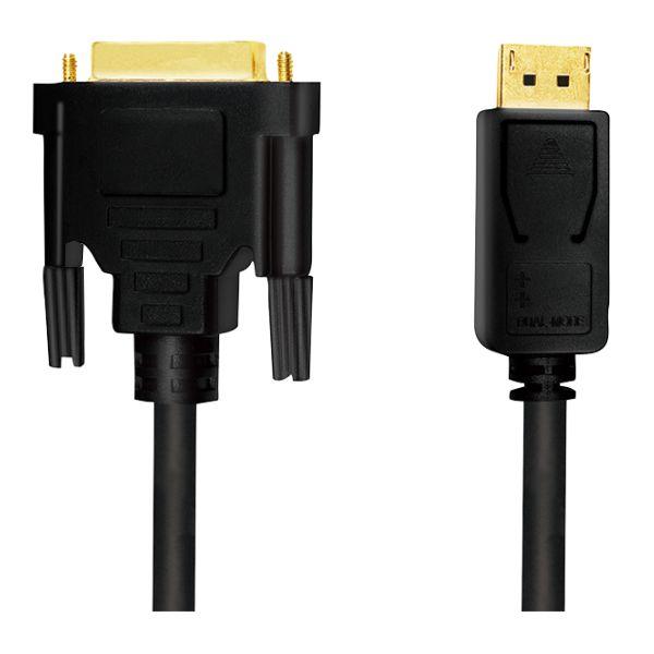 DisplayPort 1.2 zu DVI 24+1 Kabel, 1080P@60Hz, St/St, 3m, Gold