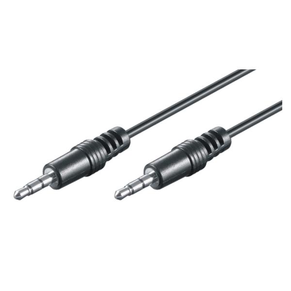 3.5mm HQ Verbindungskabel - St/St - 0.6m, schwarz