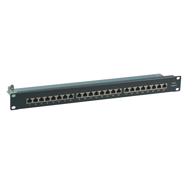 Patchpanel 19i-24P-CAT6-1HE-BK