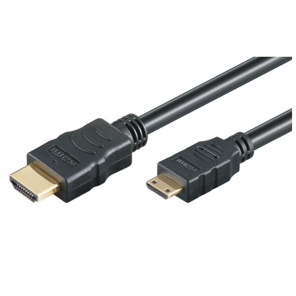 HDMI Hi-Speed Kabel w/E - A/miniC - 4K/60Hz - 2.0m - schwarz