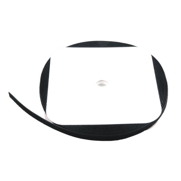 Klettband 20mm x 25m Rolle, schwarz