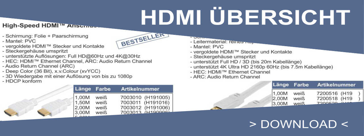 HDMI Uebersicht